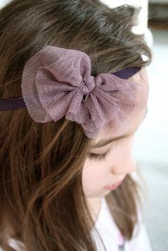 Hårband, lila