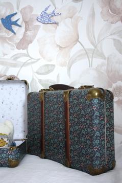 Resväska/koffert, blommig
