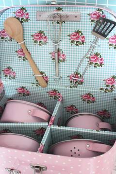 Spisväska med kastrullset, rosa