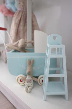 Barnstol, blå