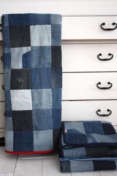 Lapptäcke / filt, blått