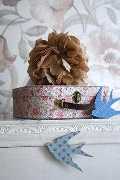 Väska med blommor, medium