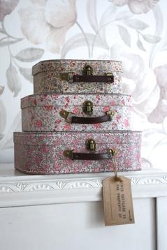 Väskor med blommor, 3 st (set)