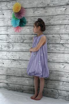 Ballongklänning, lila