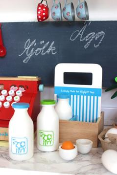 Mjölk i trälåda