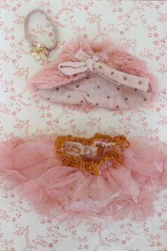 Kjol och cape, rosa