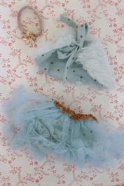 Kjol och cape, turkos