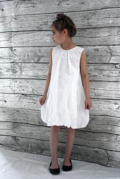 Ballongklänning, vit