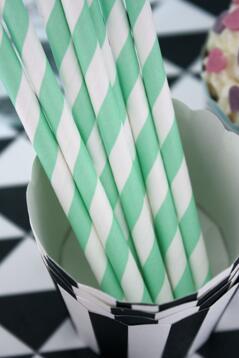 Papperssugrör, gröna